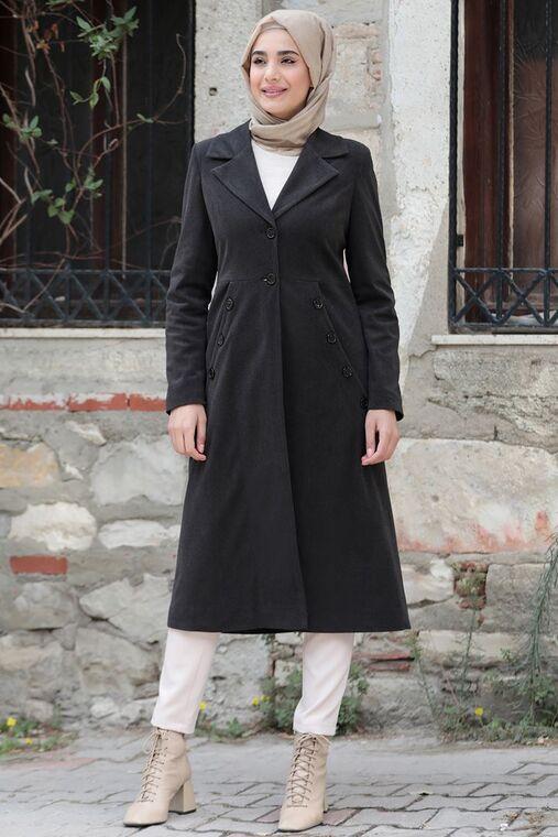 Rana Zenn - Antrasit Ebru Kaban - RZ15573