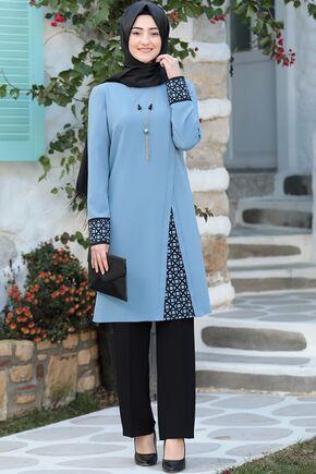 Rabeysa - Bebe Mavi Asya İkili Takım - RS15796