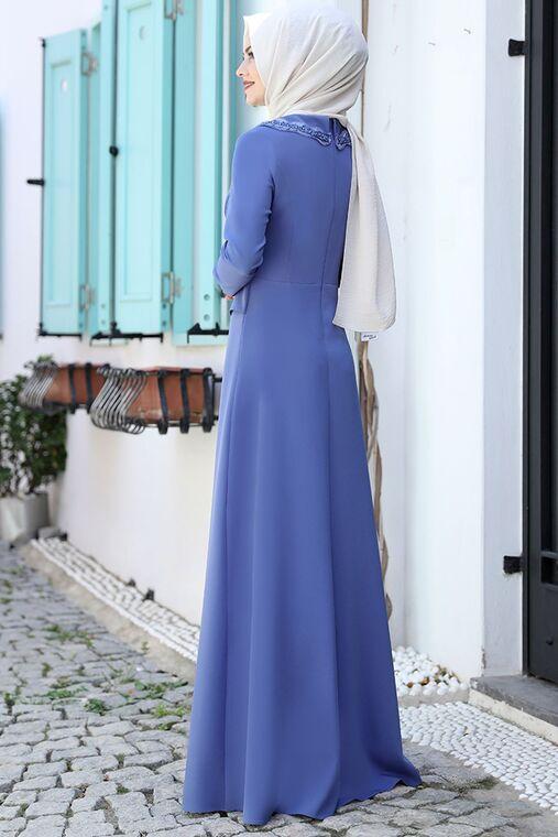 Bebe Mavi Ayliz Elbise - AHU15955