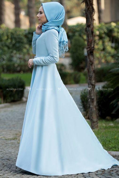 Lefzen - Bebe Mavi Esil Abiye - LF13095 (1)