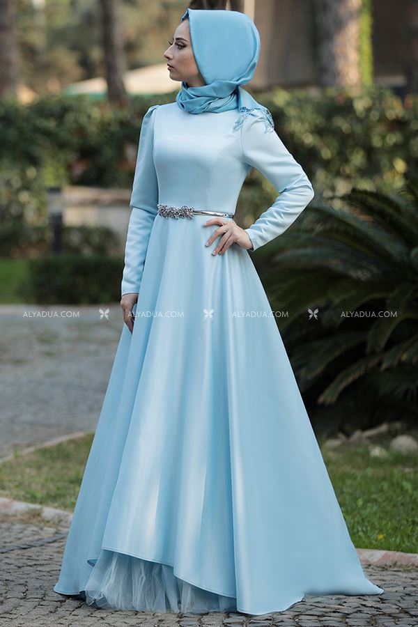 Bebe Mavi Esil Abiye - LF13095