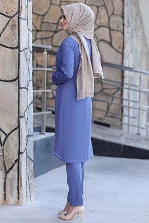 Bebe Mavi Hale Takım - AHU15447 - Thumbnail