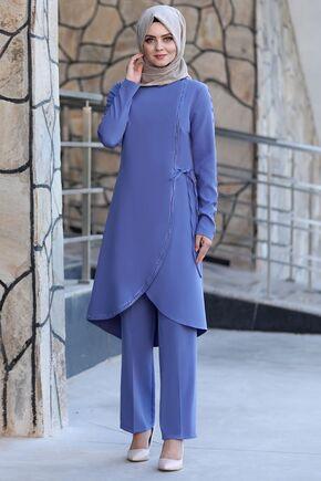 Ahunisa - Bebe Mavi Nadide Takım - AHU15455