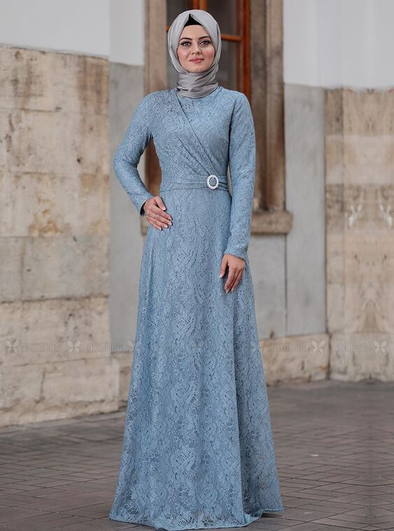 Ahunisa - Bebe Mavi Tanem Abiye - AHU15086