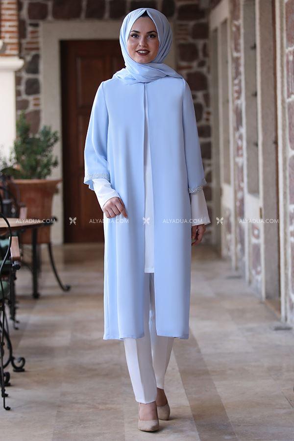 Alyadua - Bebe Mavi Taş Detay İkili Takım - AD14029