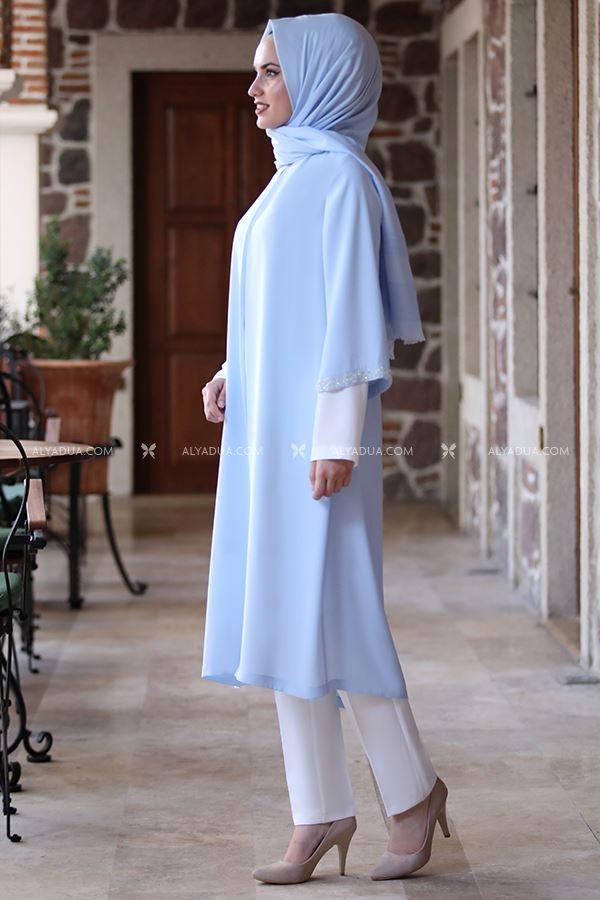 Alyadua - Bebe Mavi Taş Detay İkili Takım - AD14029 (1)