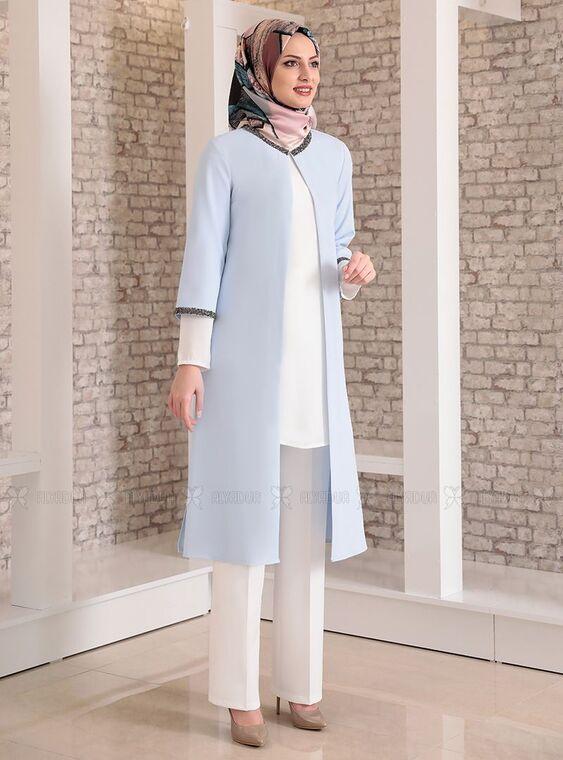 Fashion Showcase - Bebe Mavi Taş Detay Üçlü Takım - FS15028
