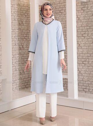 Bebe Mavi Taş Detay Üçlü Takım - FS15028 - Thumbnail