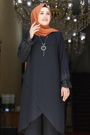 Siyah Azra Takım - AMH1648 - Thumbnail