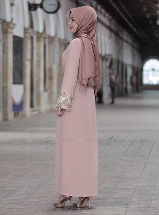 Bej Duru Elbise - ES14443 - Thumbnail