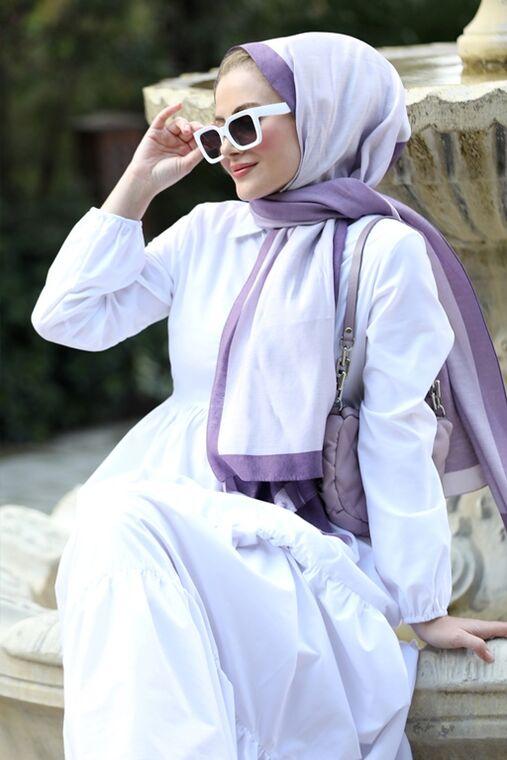Beyaz Alaçatı Elbise - ST15897