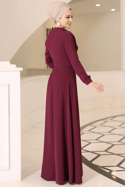 Bordo Ahsen Elbise - DL15801