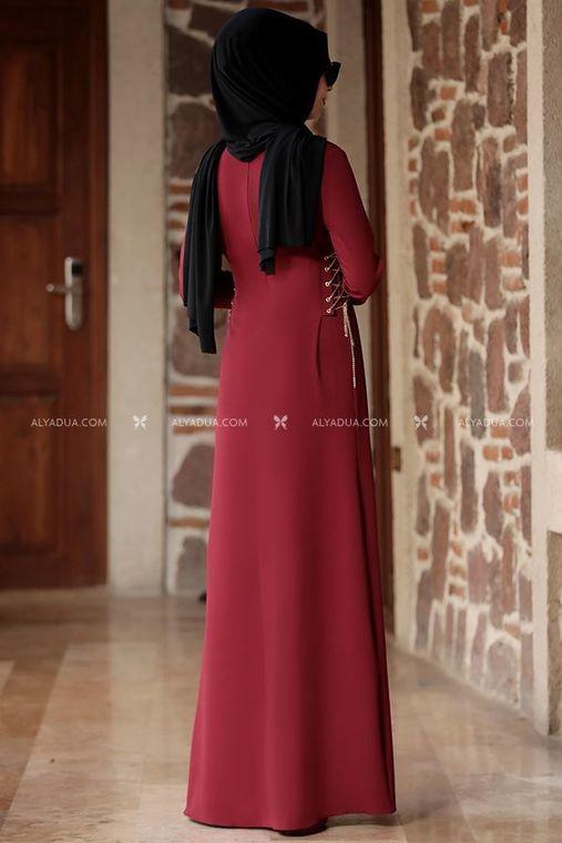 - Bordo Beste Elbise - RZ12865 (1)