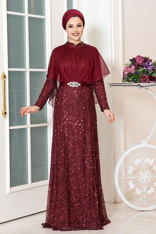 Dress Life - Bordo Deren Abiye - DL16317