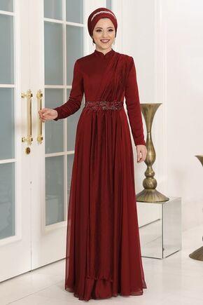 Dress Life - Bordo Endam Abiye - DL16309
