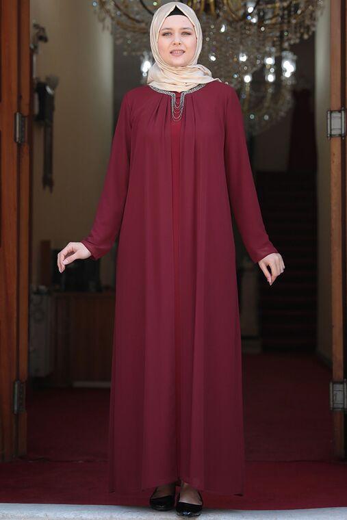 Bordo Esma Elbise - AMH16102
