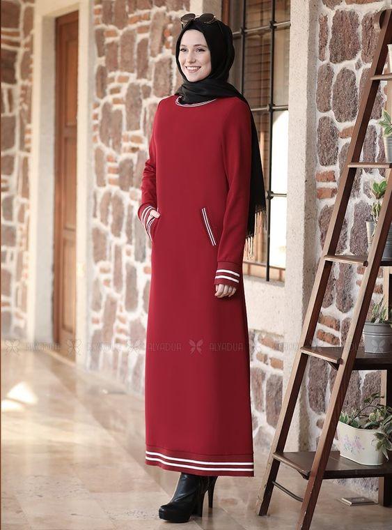 Bordo Eşofman Elbise - ADC14626