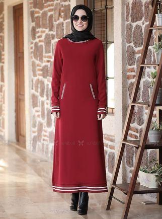 Alyadua - Bordo Eşofman Elbise - ADC14626