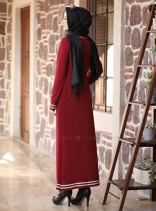 Bordo Eşofman Elbise - ADC14626 - Thumbnail