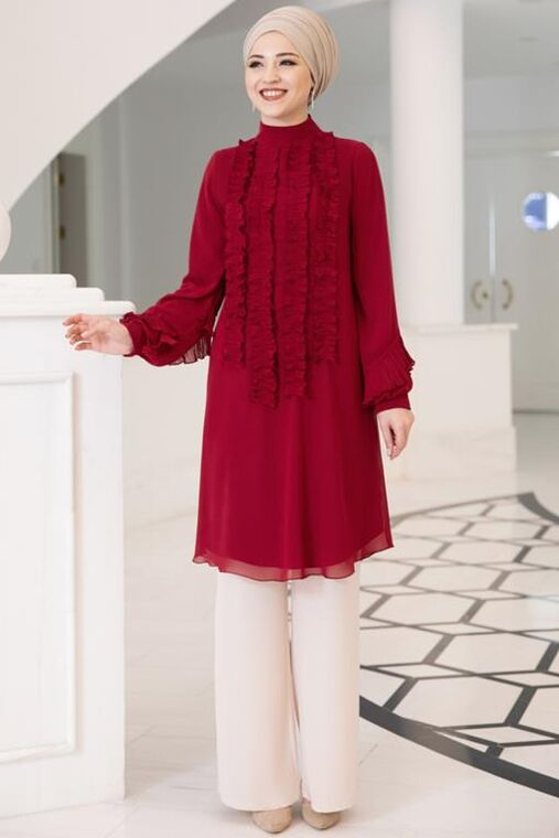 Dress Life - Bordo Eylül Tunik - DL15707