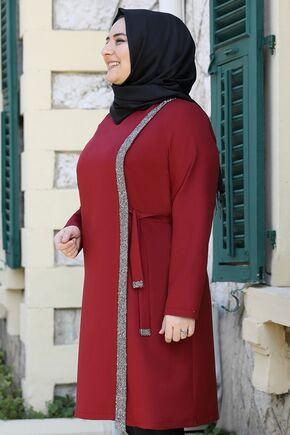 Bordo İpek Tunik - ES15939 - Thumbnail