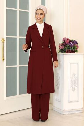 Dress Life - Bordo Klass İkili Takım - DL16489