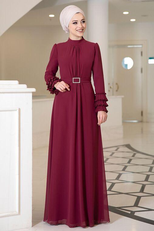 Dress Life - Bordo Lina Elbise - DL16119
