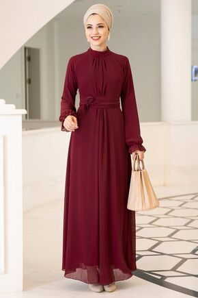 Dress Life - Bordo Miraç Elbise - DL15678