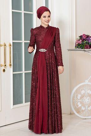 Dress Life - Bordo Miray Abiye - DL16320