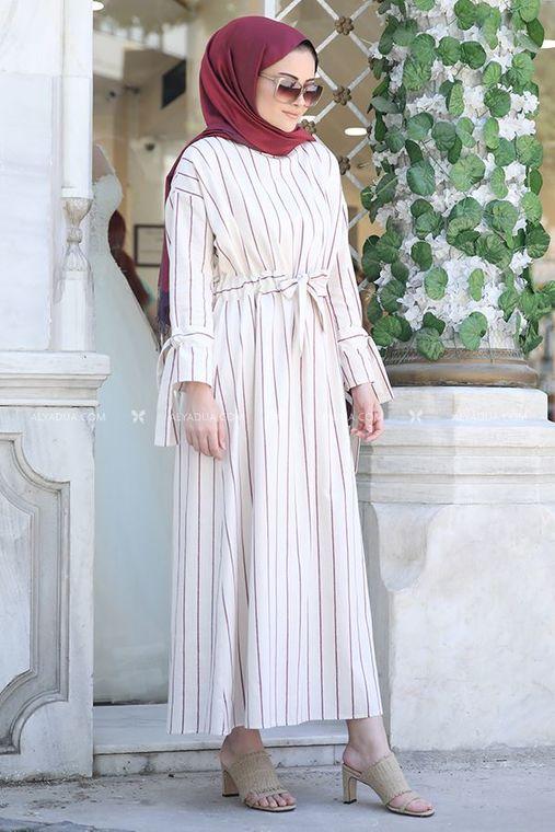Seda Tiryaki - Bordo Nil Elbise - ST13917 (1)