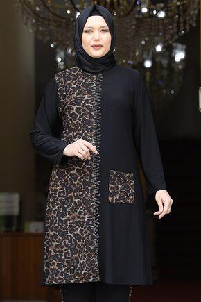 Siyah Leopar Takım - AMH16209 - Thumbnail