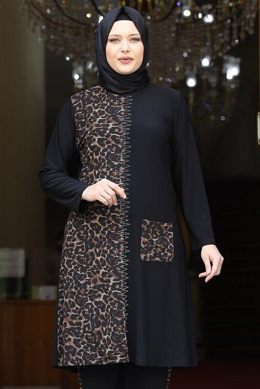 Siyah Leopar Takım - AMH16209