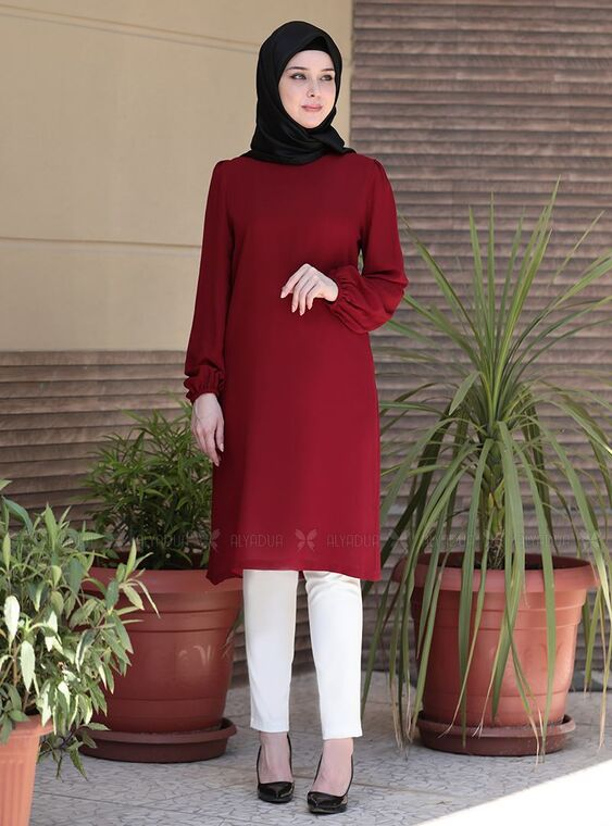 Emsale - Bordo Sare Tunik - ES15045