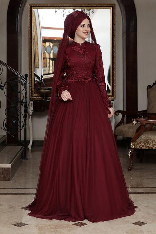 Dress Life - Bordo Seyran Abiye - DL16355