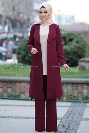 Dress Life - Bordo Sümeyra Üçlü Takım - DL14187