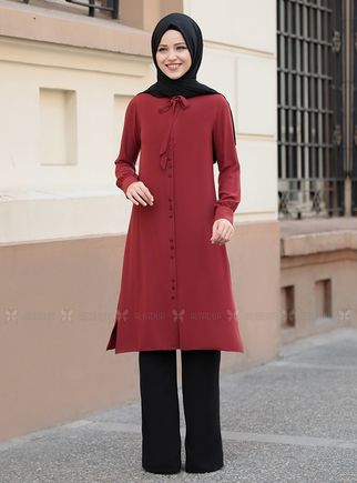 Dress Life - Bordo Tual Tunik - DL14464