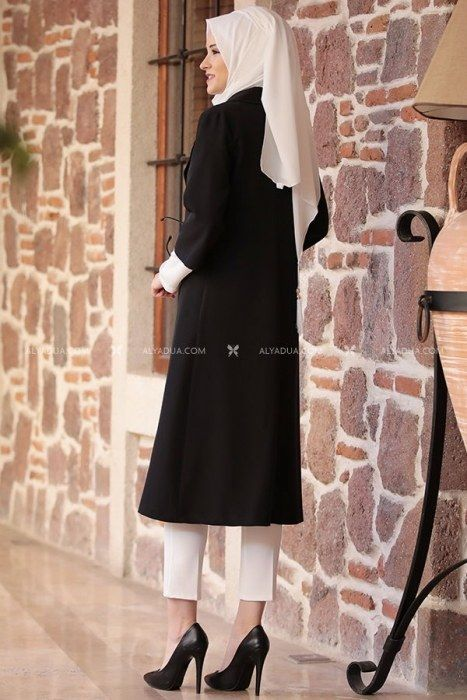 - Detailed Suit - Three Pieces - Black - AH12018 (1)