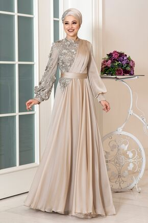 Dress Life - Ekru Melisa Abiye - DL16266