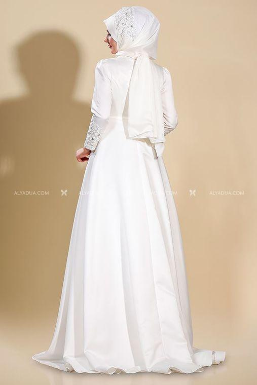 Som Fashion - Ekru Lilyum Abiye - SF13233 (1)