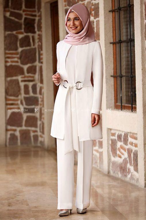 Moda Rafta - Ekru Sezen Ceket Pantolon İkili Takım - MOR13726
