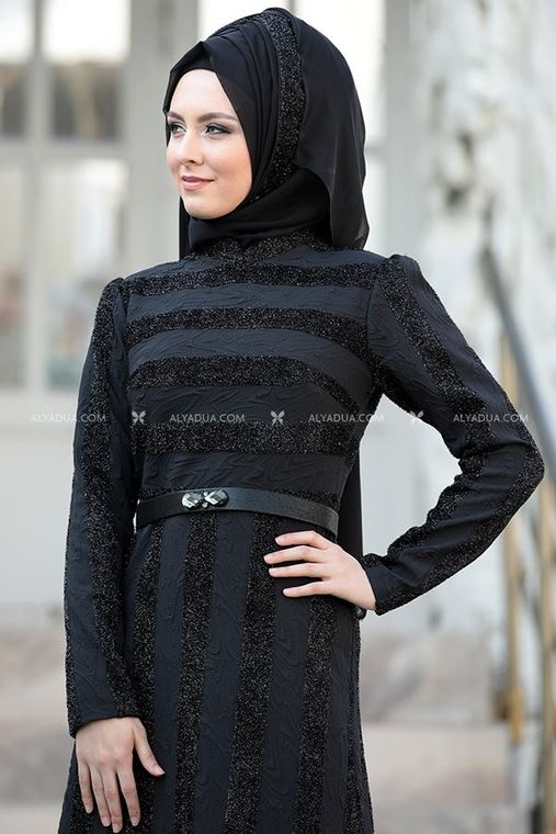 - Evening Dress Black - SŞ11142 (1)