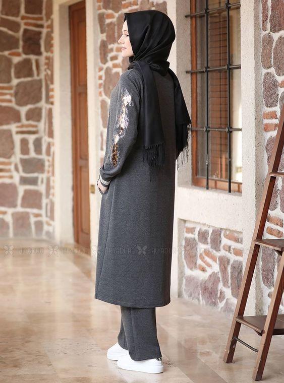 Füme Taşlı Eşofman Takım - ADC14633
