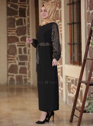 Gold Nefes Elbise - ES14294 - Thumbnail