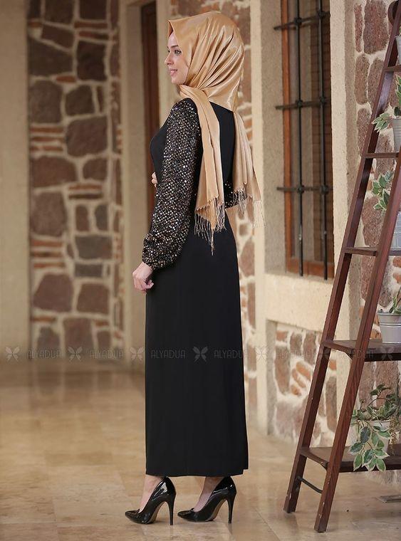 Gold Nefes Elbise - ES14294