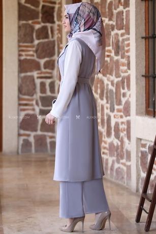 Alyadua - Gri Asya Kap Pantolon İkili Takım - AD13521 (1)