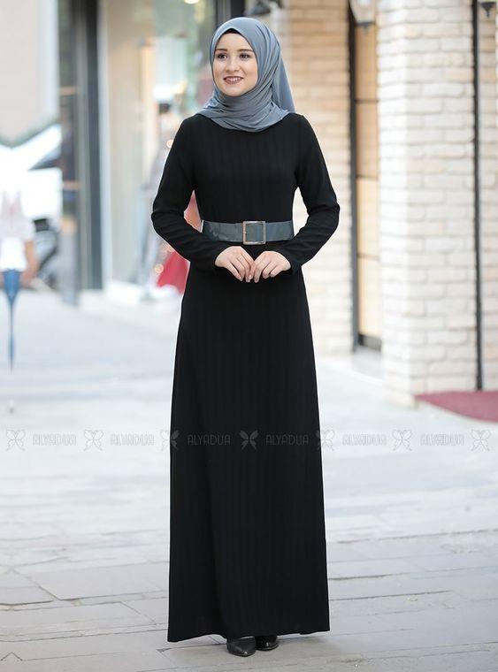 Gri Damla Elbise - RZ14235