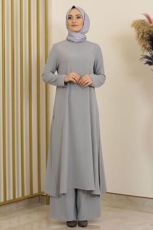 Fashion Showcase - Gri Ece İkili Takım -FS16294