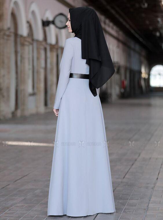 Gri Ela Elbise - SFN15015