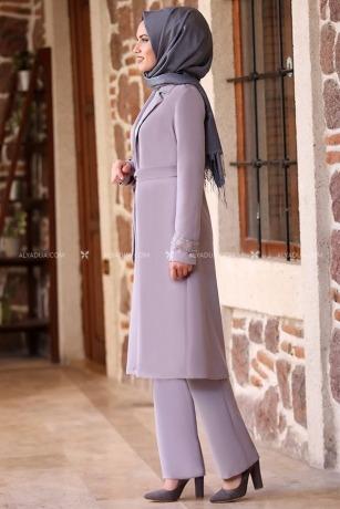 Gri Esra İkili Takım - AD14056 - Thumbnail