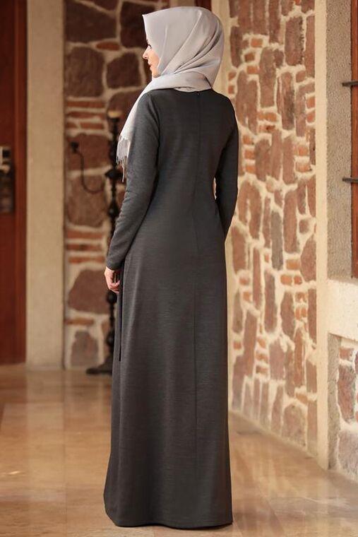Gri Eylem Elbise - ES15629